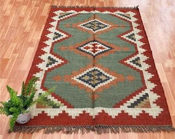 Navajo Rug Antique Kilim Rug Floor Rug Boho Rug 6x9 Ft Rug Indian Rug Kitchen Rug Cotton Rug Area Rug Kilim Rug Handmade Rug