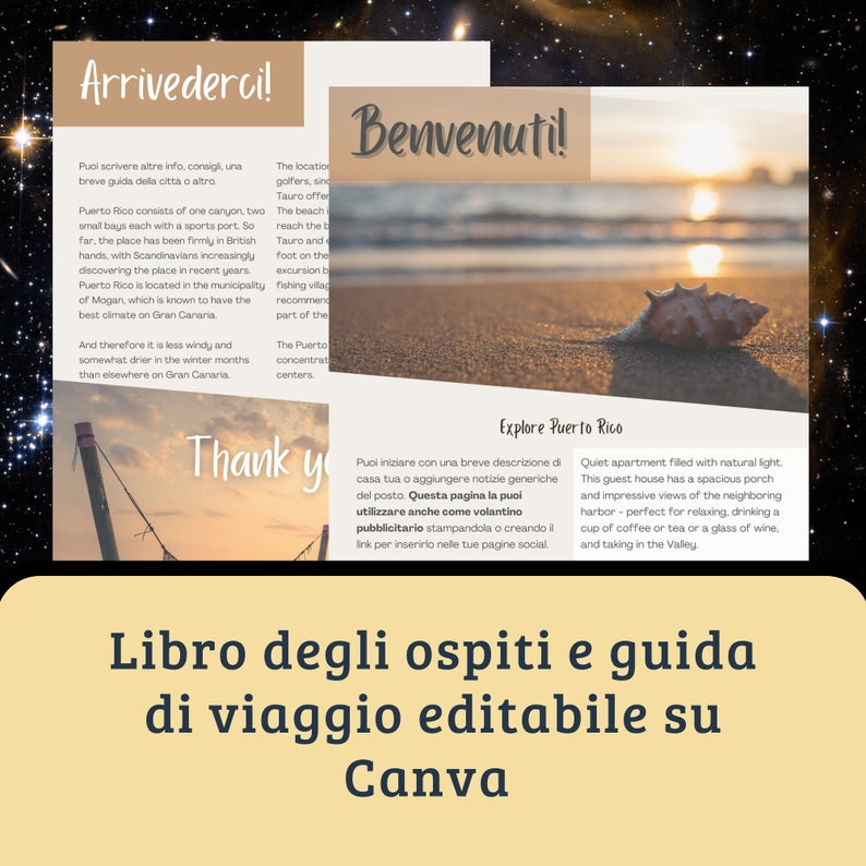 LIBRO degli OSPITI Airbnb VRBO  Booking Guidebook for your image 0