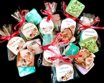Guest soap. Handmade favor soap. Mini soap. Wedding favors. Goat milk soap. Bridal Favors. Company promotion soap. Shower soap favor