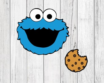 Blue Monster & Monster Cookie SVG | PNG | Instant Download