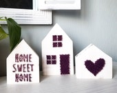 Tiered Tray Decor - Home Sign String Art, Farmhouse Decor, Home Sweet Home, Heart Sign, Housewarming Gift, Our First Home Ornament