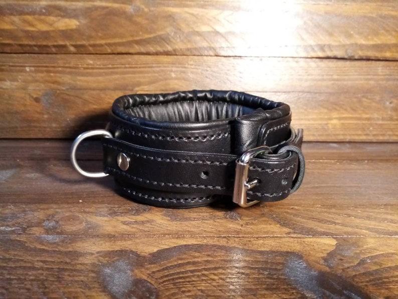 Black Padded BDSM Collar