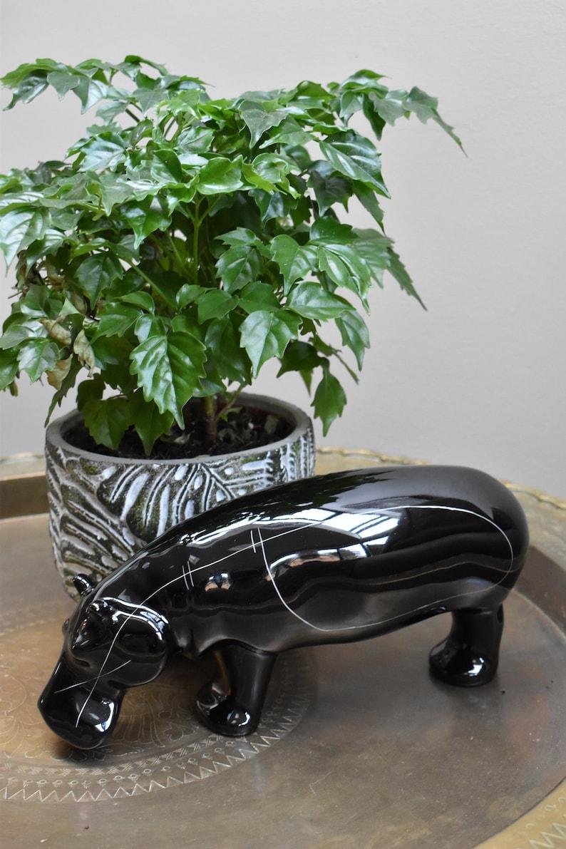 Cmielow Hippopotamus Handmade Porcelain Figurine
