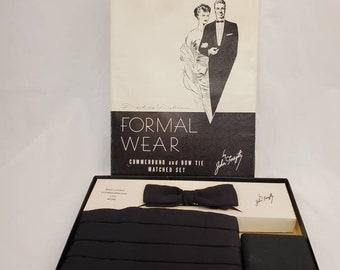 Vintage formal wear cummerbund and bow tie and cufflinks