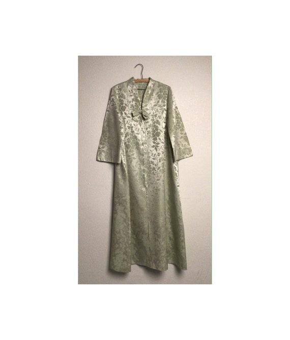Vintage, satin damask, dressing gown