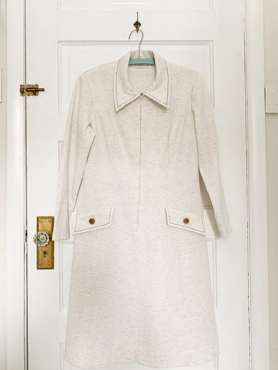Womens pocket zip up vintage dress