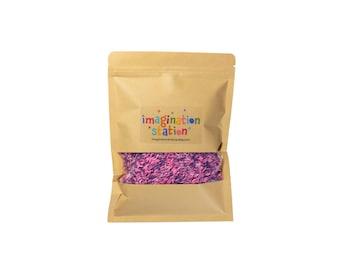 Pink and purple sensory rice mix, sensory rice, colored rice, colored sensory rice, sensory bin filler