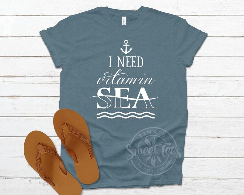 spring break summer tee Vitamin Sea Shirt womens t-shirt beach lover girls trip vacation tshirt gift for her