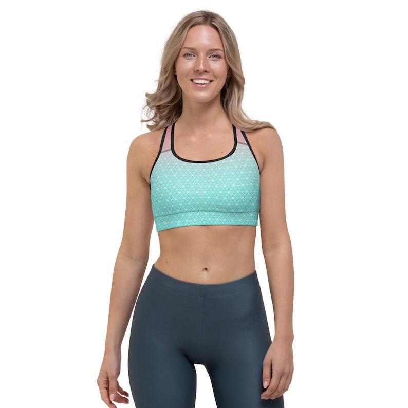 Geometric Premium Sports bra