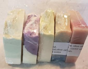 5pkvariety,  Handmade soap, Beauty bar, Natural, Moisturizing,