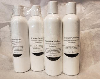 Coconut milk & Hemp seed oil Shampoo and Conditioner set, Natural Oils used
