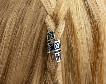 Fairy Hair Beads Handmade Loc Jewelry Braids Dread Locks Beads Viking Hair Rings Natural Stone Hair Accessories Celtic Hair Jewelry