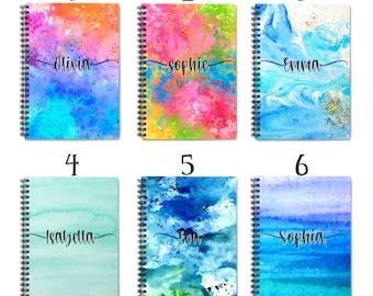 Personalized Notebook, Custom Notebook, Notebook, Custom Journal, Lined Notebook, Spiral Notebook, Personalized Gift, Personalized Diary