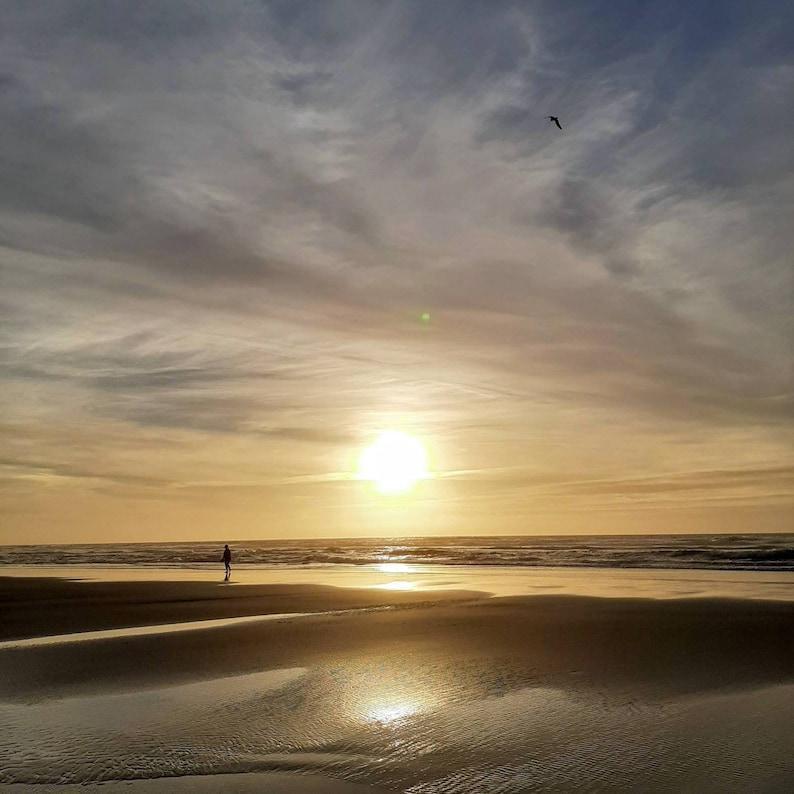 Sunset of the ocean digital photo image 0
