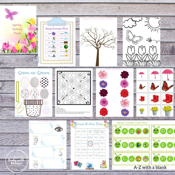 Spring Activity Pack Printable