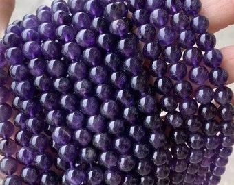 BeadsOne Deep Purple Glass Pearl Round Loose Beads with holes for handmade jewelry crafts necklaces earrings bracelets DIY C21