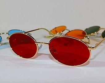 Sunglasses men Tinted Sunglasses Vintage Oval Sunglasses Sunglasses women Candy Color Sunglasses Oval Sunglasses
