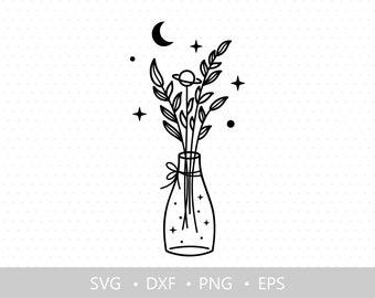 Celestial svg, Floral svg, Wildflower svg, Laurel svg, Floral clipart, Shirt design