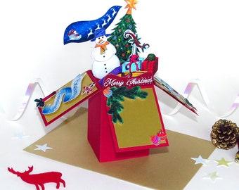 Christmas Box Pop-Up Box Card   Pop Up Box   Christmas Card   Personalised Box Card   Christmas Gift