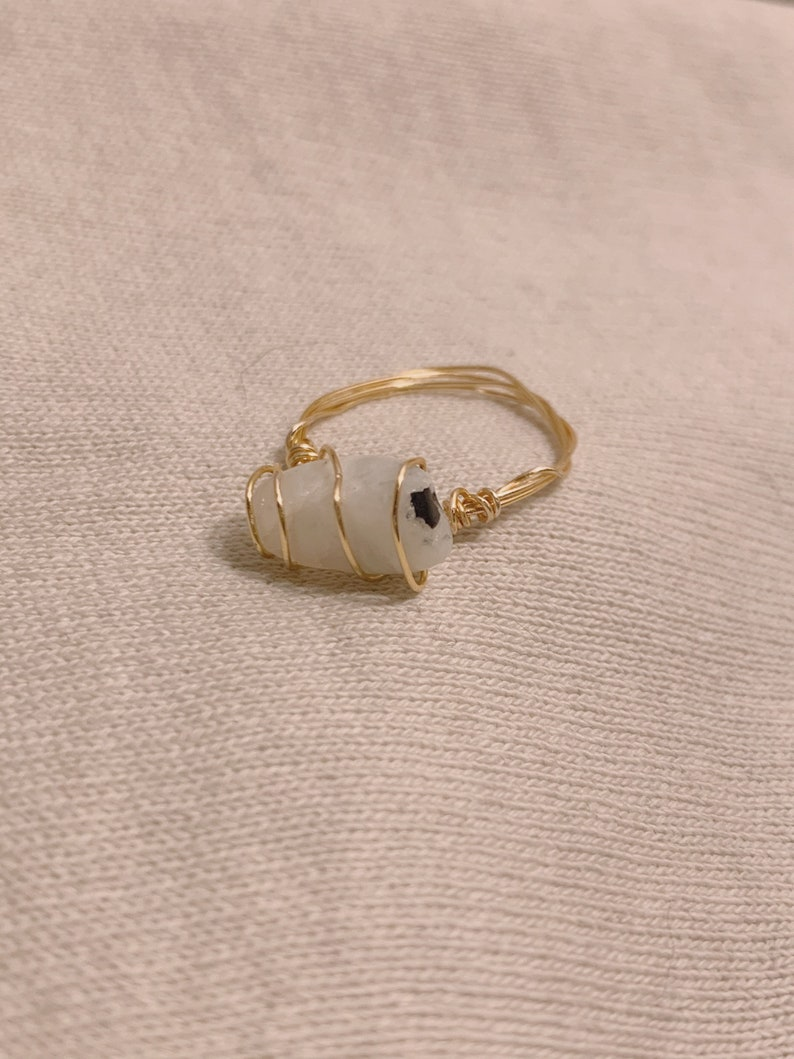 wrapped crystal rings