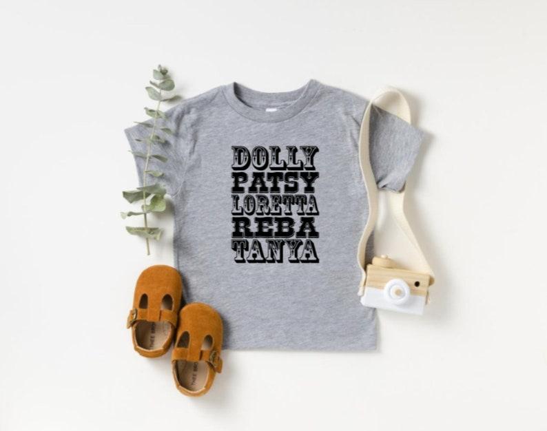 Baby Shower Gift Dolly Patsy Loretta Reba Tanya Onesie Country Music Bodysuit Baby Birthday Gift Unisex Kids Clothing