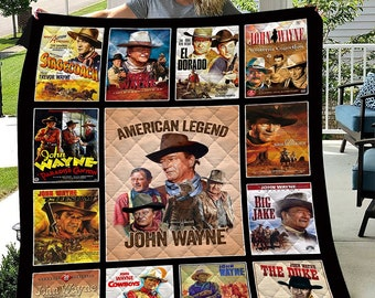 horse John Wayne Fabric by Riley Blake sunset guns framed pictures desert Western cowboy wall hanging Hollywood icon quilt fabric