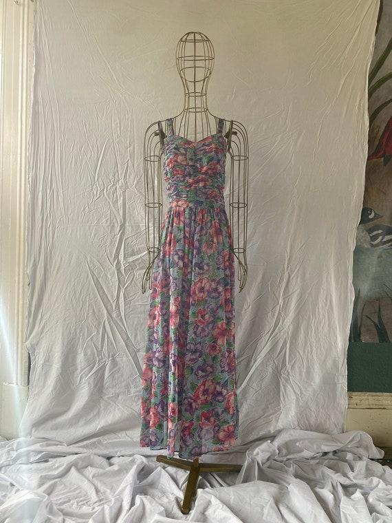 Vintage 1950's floral cotton gauze strappy sundres