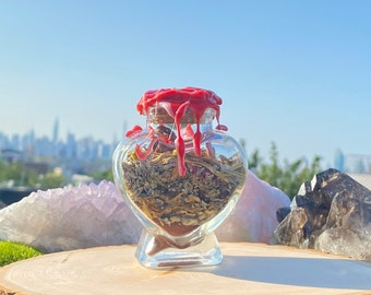LOVE SPELL JAR, attraction spell, witchcraft