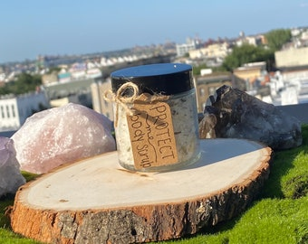 PROTECT ME body scrub, witchcraft, protection spell, protection bath scrub
