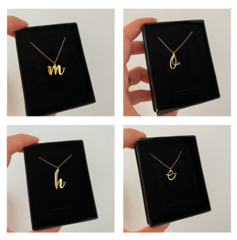 Women Letter Necklace Silver Necklace Custom Gift Handmade Chain Valentine Day Birthday Gifts Custom Name Necklace Name Necklace