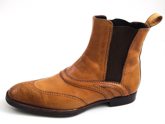 Sergio Rossi Wingtip Ankle Boots