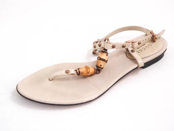 Gucci Bamboo Thong Slingback Sandals
