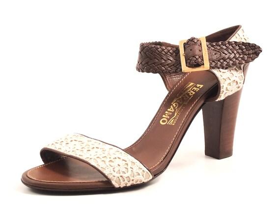 Ferragamo Med Heel Sandals