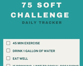 75 Soft/Easy Challenge Daily Tracker | Habit Tracker | Digital Download/Ready to Print - Instagram Story Version