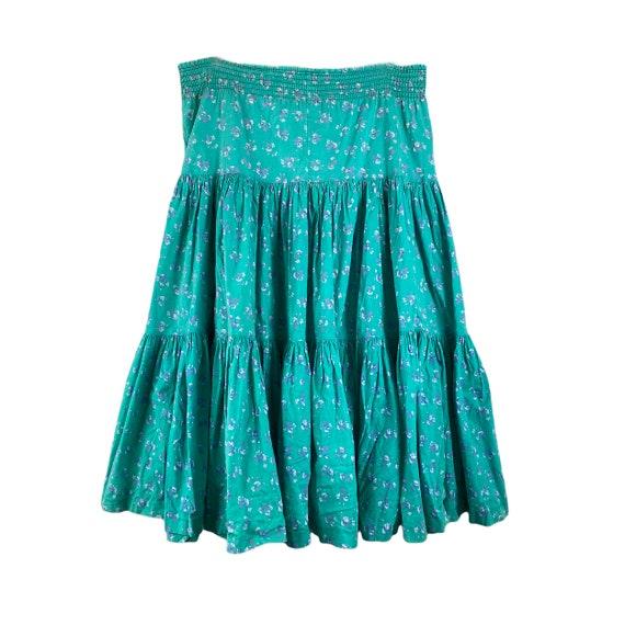 Vintage Laura Ashley Skirt 1970's Three Tiered Ru… - image 6