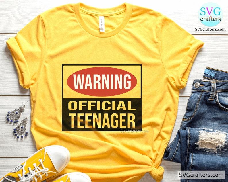birthday girl svg Warning Official Teenager svg Cricut /& Silhouette Official Teenager svg 13th birthday png-Printable 13th birthday svg