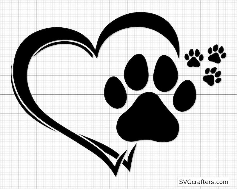 dog paws svg puppy svg dog lover svg Cricut /& Silhouette paw svg dog paw print svg dog paw svg dog mom svg Paw Print svg Printable