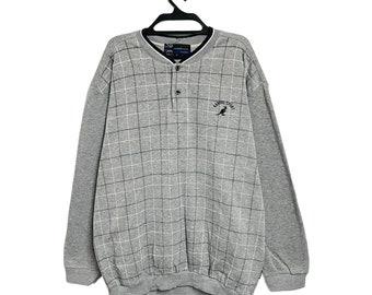 Vintage 90s Kangol Sweatshirt Very Big Logo Colourblock Pullover Streetwear Medium Size Pick!