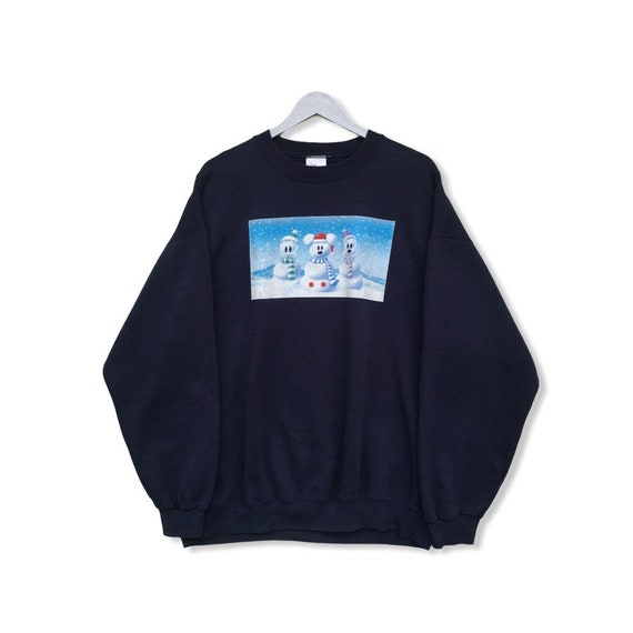 Pick !! Vintage 90 Mickey Mouse Snowman Sweatshirt