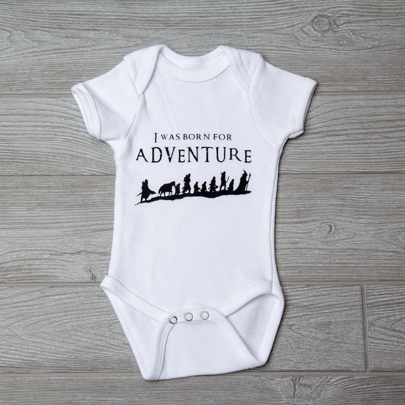 Adventure Baby Gift Lord of the Rings Baby Onesie Fellowship of the Ring