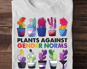 Lgbt Shirt, LGBT Pride Plants Against Gender Norms Shirt