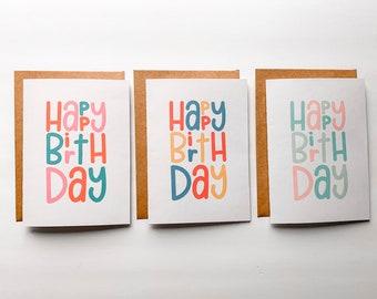 Happy Birthday Card - custom birthday card, cute birthday card, special occasion card, birthday card for her, birthday card for him