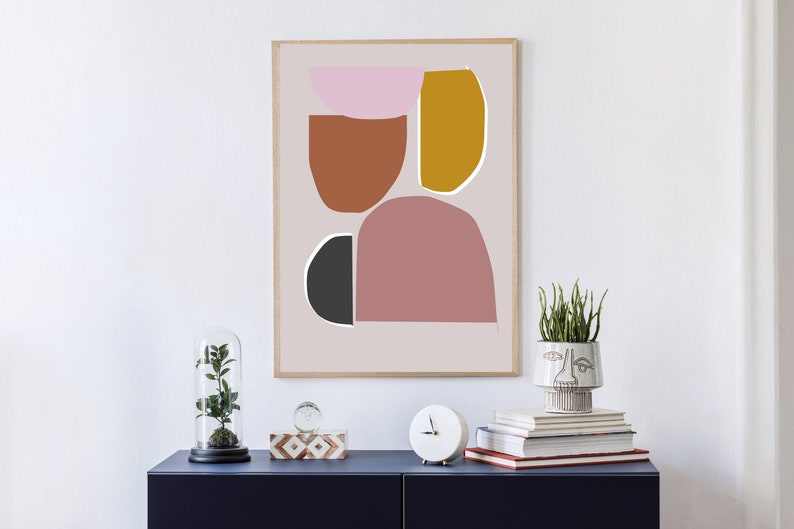 Abstract printable art Minimal Print Wall art modern Contemporary art Living Room Art Print Geometric painting