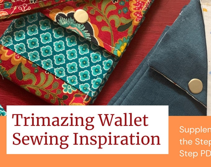 Trimazing Wallet Step by Step Sewing Tutorial, Version 1 - AMC7 2020
