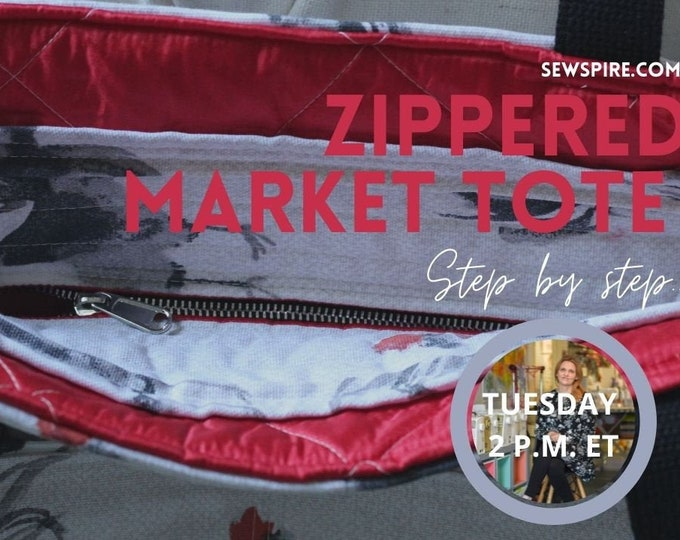 Sewspire Design Board #061521 - Zippered Market Tote