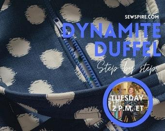 Sewspire Design Board #060821 - Dynamite Duffel
