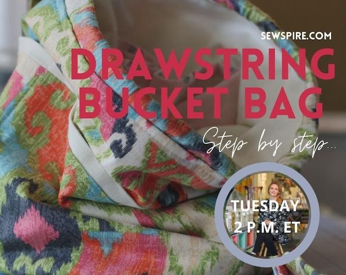 Sewspire Design Board #062221 - Drawstring Bucket Bag