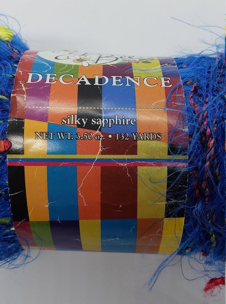 Yarn Bee Decadence Silky Sapphire Yarn in Blue