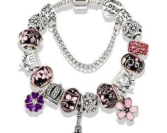 GRAPHICS /& MORE Old Paris France Eiffel Tower Italian European Style Bracelet Charm Bead