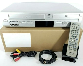 Fully Refurbished Panasonic PV-D4744S DVD VCR vhs dvd Combo Player W/ Original Remote and Cables